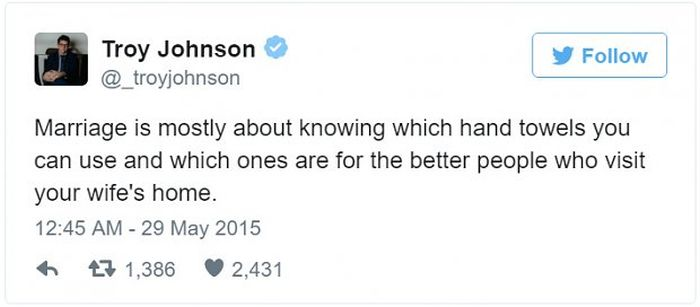 Tweets About Married Life That Will Tickle Your Funny Bone (17 pics)