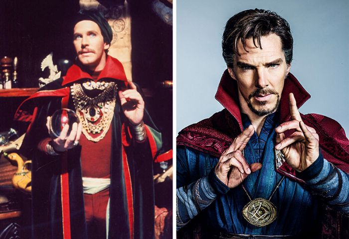 Famous Superheroes Back In The Day And Today (14 pics)