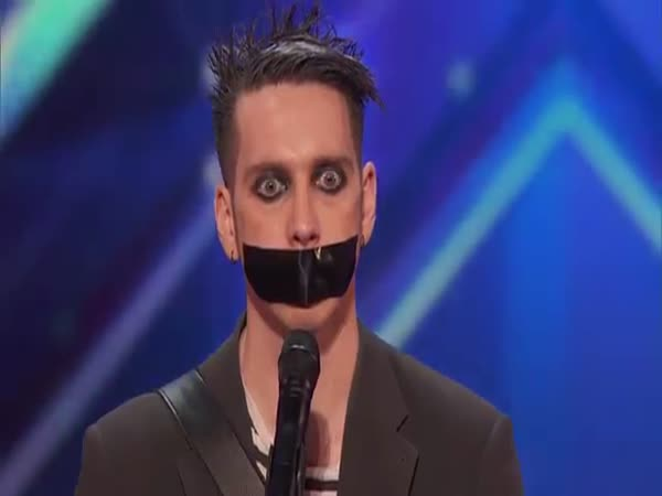 Tape Face Strange Act Leaves The Audience Speechless