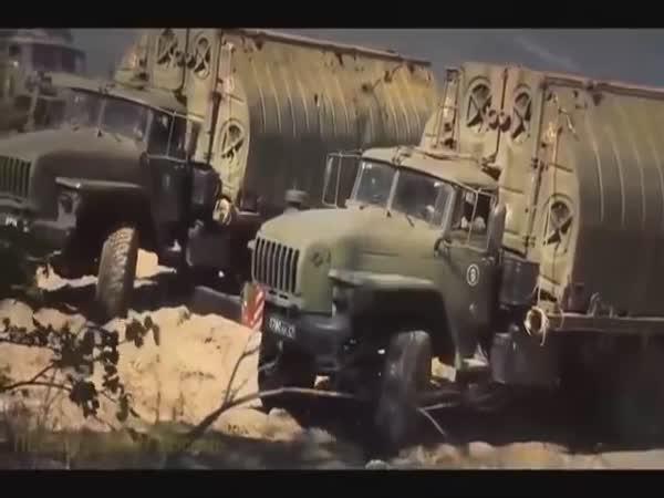 Russian Army Pontoon Bridge Construction