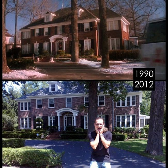 Man Visits Famous Movie Locations To Show What They Look Like Today (18 pics)