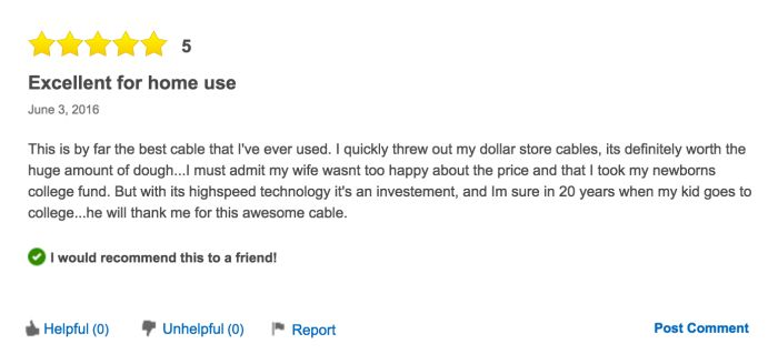 The Reviews For This $1,500 USB Cable Are Hilarious (8 pics)