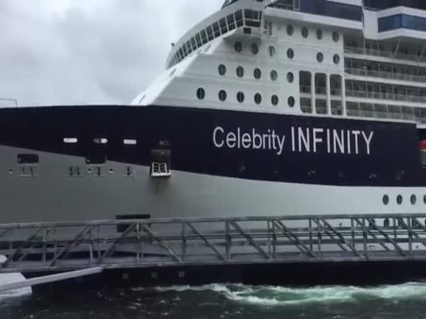 Celebrity Infinity Slams Into Ketchikan Dock