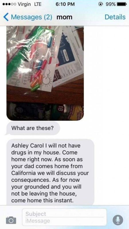 Mom Loses It When She Discovers Drugs In Her Teenage Daughter's Room (4 pics)