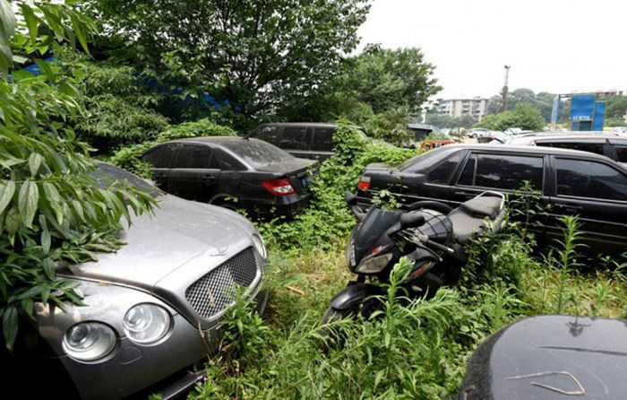 Fancy Cars Found Abandoned In China (5 pics)