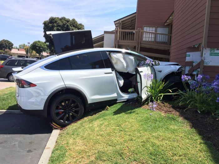 Tesla Owner Says Car Crashed Under Its Own Power (2 pics)