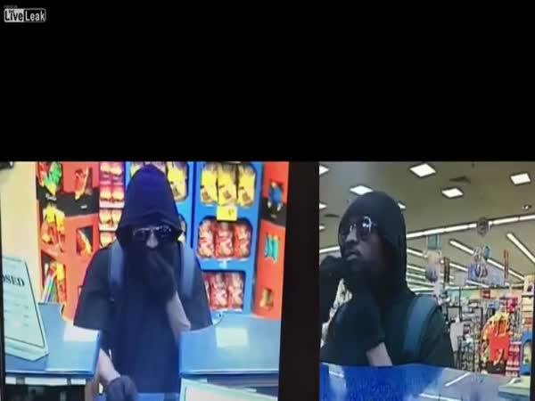Fake Beard Falls Off Bank Robber
