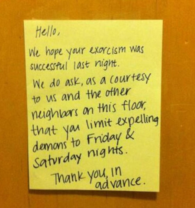 Angry Neighbors Write The Most Hilarious Notes (33 pics)