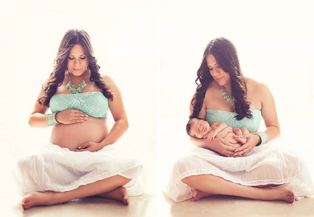 Before And After Photos That Capture The Beauty Of Motherhood (73 pics)