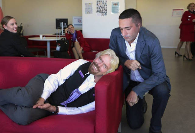 Richard Branson Asks For Photoshop Help After He Caught His Employee Sleeping (24 pics)