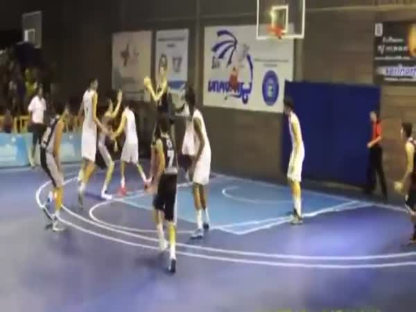 75 Ft High School 15 Year Old Playing Basketball
