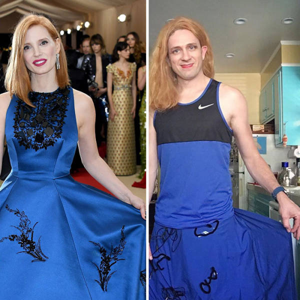A Former Buffy Actor Has Been Hilariousy Recreating Celebrity Outfits (31 pics)