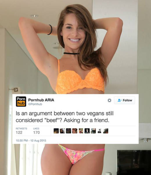 The Girl Who Runs Pornhub's Twitter Account Has Some Clever Jokes (18 pics)
