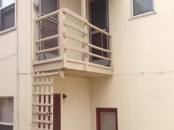 Landlord Takes The Staircase Down For Not Paying Rent