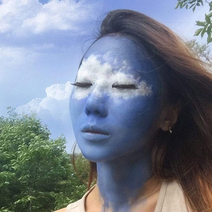 Artist Creates Optical Illusions Using Her Own Face (9 pics)
