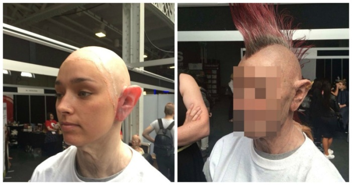 How A Young Girl Transformed Herself Into An Old Punk With A Mohawk (11 pics)