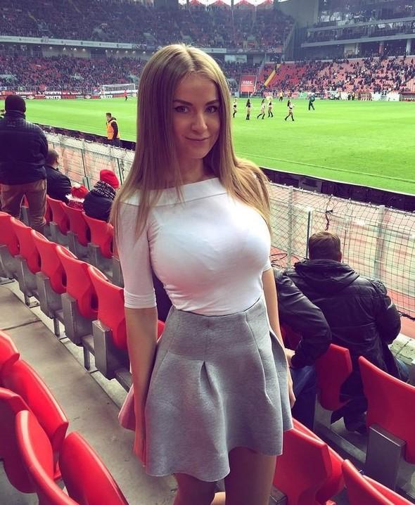 Hot european soccer fans girls
