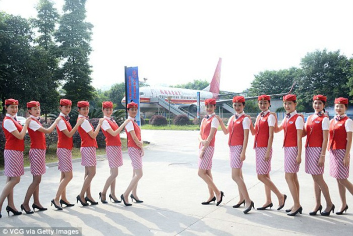 Chinese Flight Attendants Go Through Some Intense Training (9 pics)