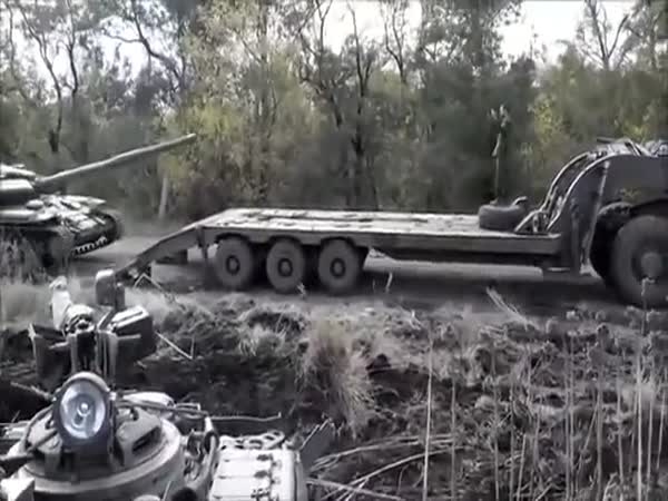 Tank Crash In Ukraine