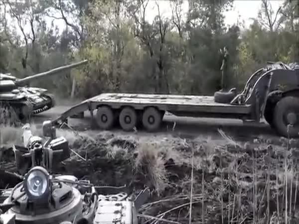 Tank Crash In Ukraine