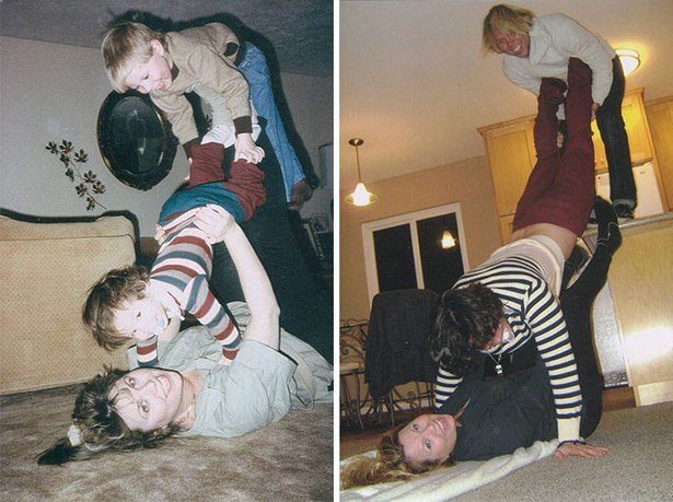 Recreating Childhood Photos Always Brings Back Good Memories (22 pics)