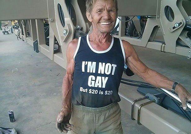 Elderly People Who Love Wearing Awkward T-Shirts In Public (25 pics)