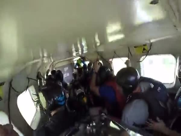 Skydiving Plane Makes An Emergency Landing