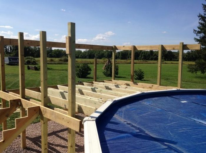 Adding A Deck To Your Above Ground Pool Will Make It Look Way Cooler (19 pics)