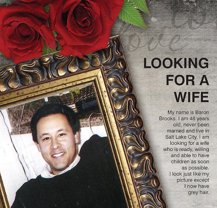 Dad Buys Full Page Ad In The Newspaper To Help His Son Find A Wife (2 pics)