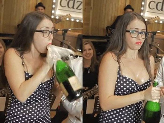 When Opening A Bottle Of Champage Turns Into A Complete Disaster (15 gifs)