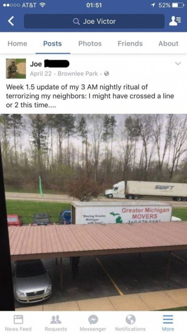 Guy Comes Up With Ingenious Plan To Get Rid Of His Crappy Neighbor (2 pics)