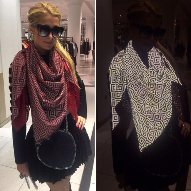 Celebrities Are Using A Special Scarf To Mess With The Paparazzi (4 pics)