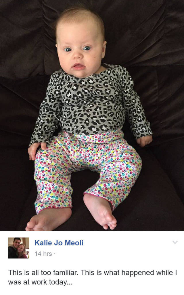 It's Hilarious When Dads Fail At Dressing Their Babies (18 pics)