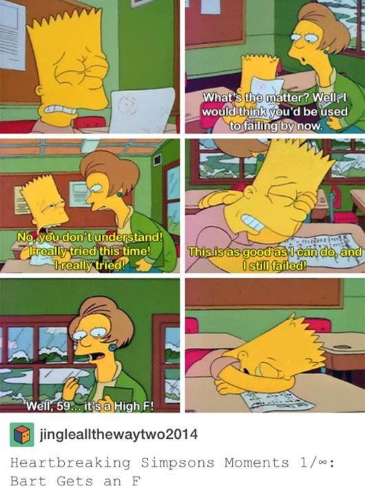 A Photo From The Simpsons Inspired People To Talk About The Grading System (5 pics)