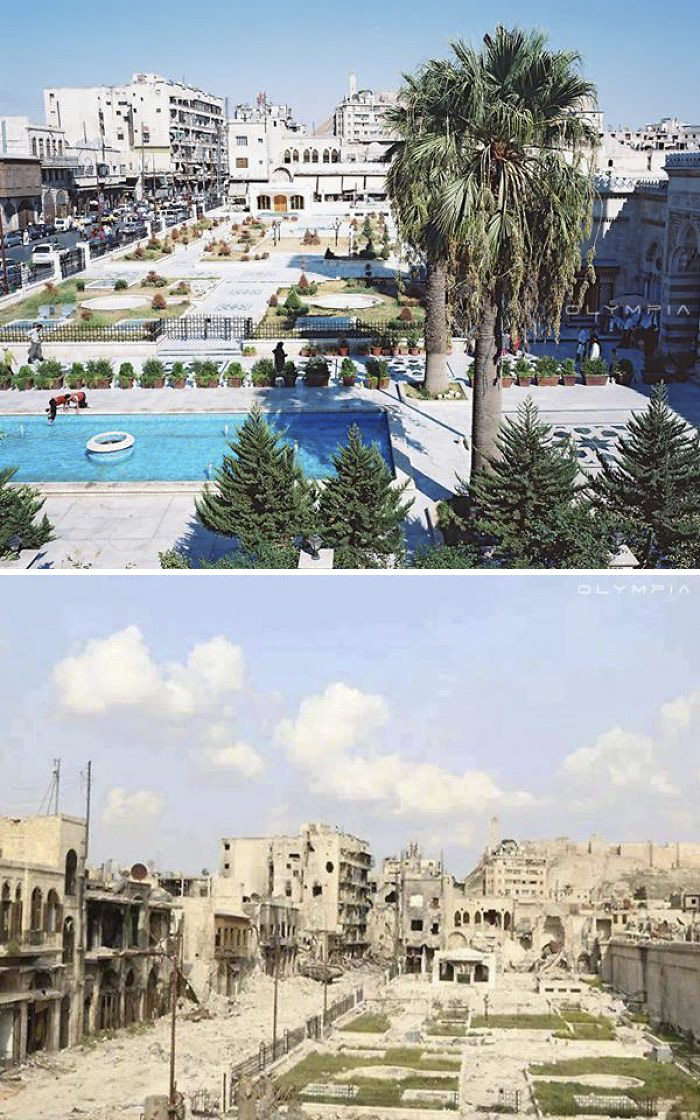 Before And After Pics Reveal How War Changed Syria's Largest City (28 pics)