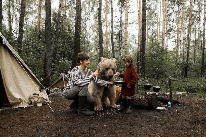 Pet Bear Stars In Family Photo Shoot (8 pics)