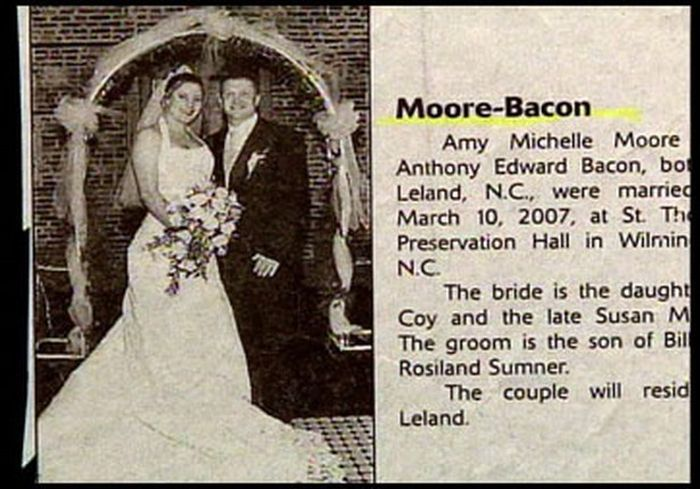 Wedding Name Combinations That Were Unintentionally Hilarious (20 pics)