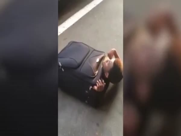 Astonishing Moment Eritrean Migrant Emerges From Inside A Suitcase
