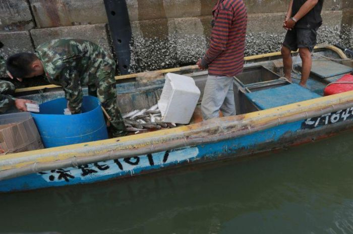 Chinese Officials Seize An Illegal Catch From Fishermen (4 pics)