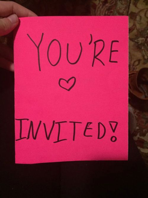 Young Kid Sends A Message To Her Sister's Bullies With A Fake Party Invitation (3 pics)