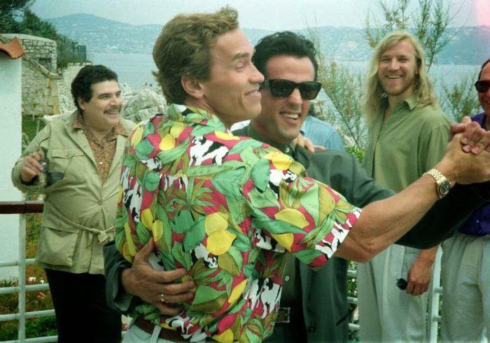 Arnold Schwarzenegger Wishes Sylvester Stallone A Happy Birthday (2 pics)