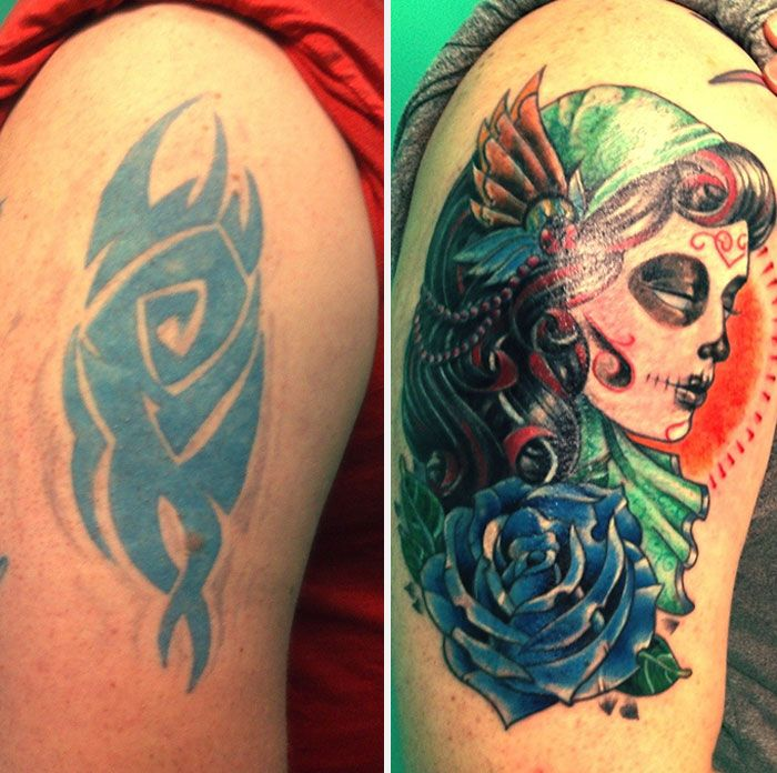 Creative Tattoo Cover Ups That Show Even The Worst Tattoos Can Be Fixed (29 pics)