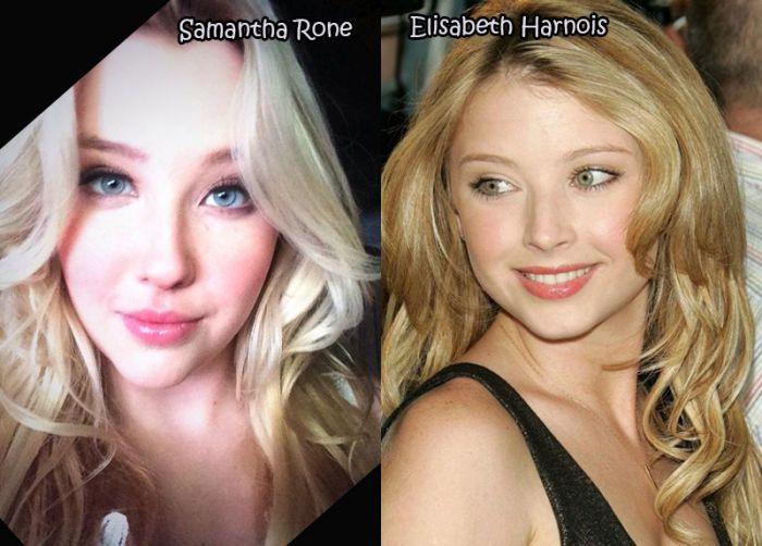 celebrity pornstar doppelgangers