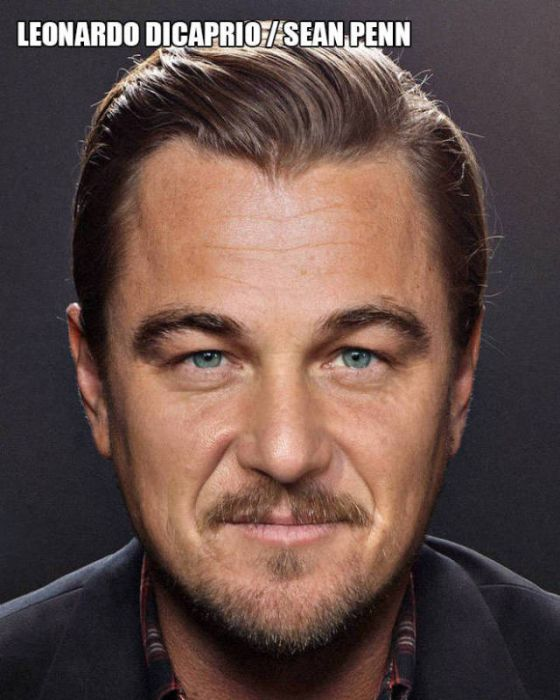 Cool Pictures That Show Celebrity Faces Merged Together (12 pics)