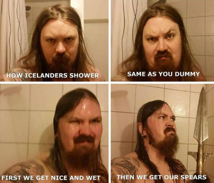 Amusing Memes Show How Different People Take Showers Around The World (17 pics)