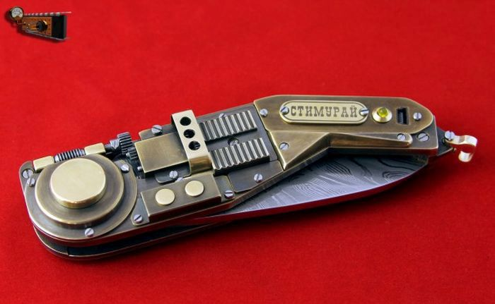 How To Build A Steampunk Knife From Scratch (27 pics + video)