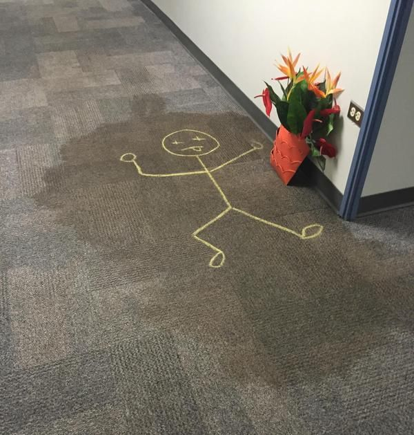 When A Simple Stain On The Carpet Turns Into So Much More (3 pics)