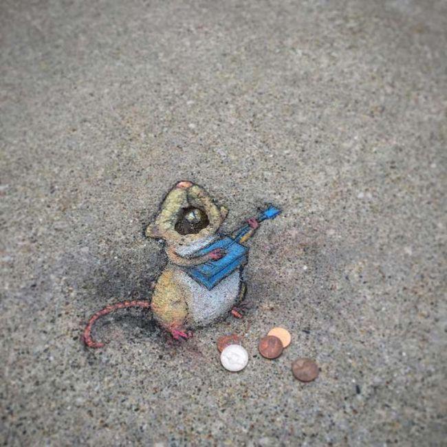 Street Artist David Zinn Gives Pokemon Go A Run For Its Money (19 pics)