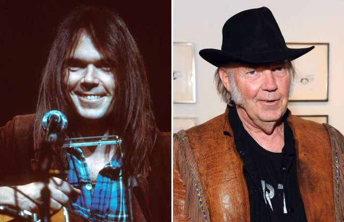 Music Stars Of The 70s Back In The Day And Today (54 pics)