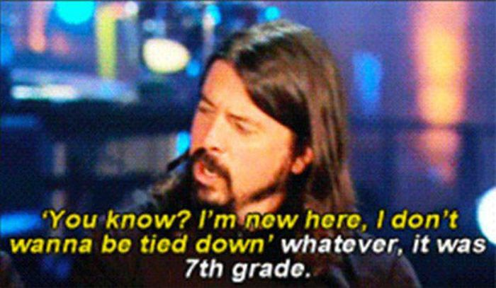 Dave Grohl Shares An Awesome Story About Long Lost Love (8 pics)